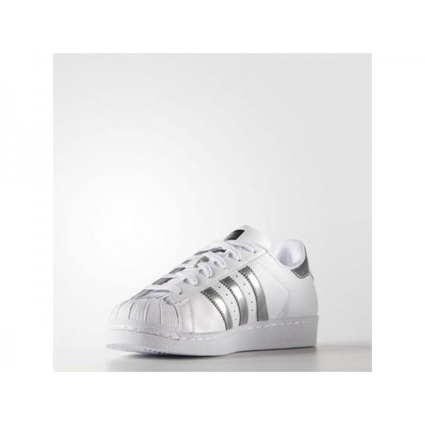 SUPERSTAR adidas Damen Originals Schuhe - Weiß/Slber Mtallic/Cre-Shwarz