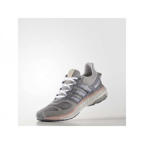Adidas Damen Energy Boost Running Schuhe - Mid Grey S14/Night Navy/Vapour Pink F16