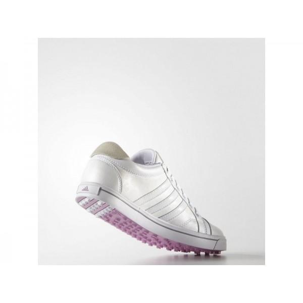 Adidas Damen Adicross Golf Schuhe Verkaufen - White/Wild Orchid Adidas F33340