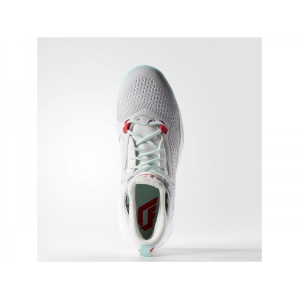 D LILLARD 2.0 PRIMEKNIT adidas Herren Basketball Schuhe - Lgh Fest Grau/Ray Rot F16/F16 Ice Grün