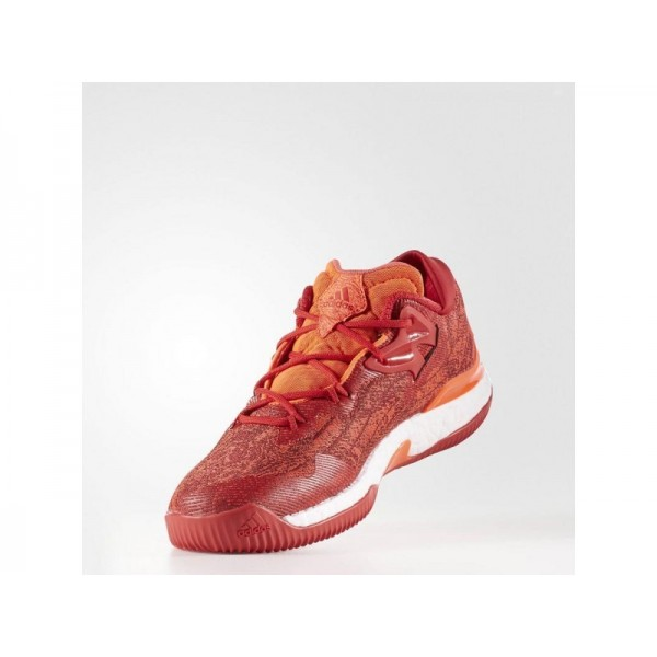 CRAZYLIGHT BOOST LOW 2018 adidas Herren Basketball Schuhe - Solar-Rot/Scarlet/Ftwr Weiß