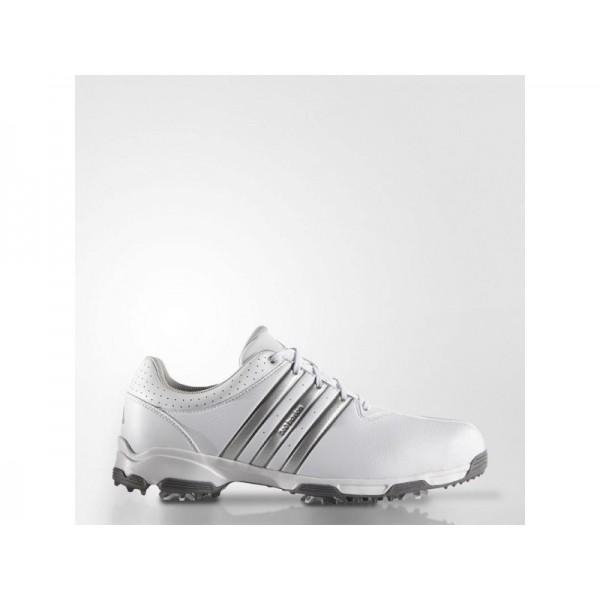 Golfschuhe Adidas '360 Traxion WD' Weiß/Silber Metallic/Dark Silver Metallics für Herren Schuhe
