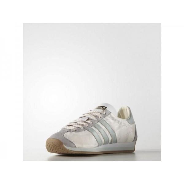 COUNTRY OG adidas Damen Originals Schuhe - Kreide Weiß/Dmpf Gün F66/Gm4