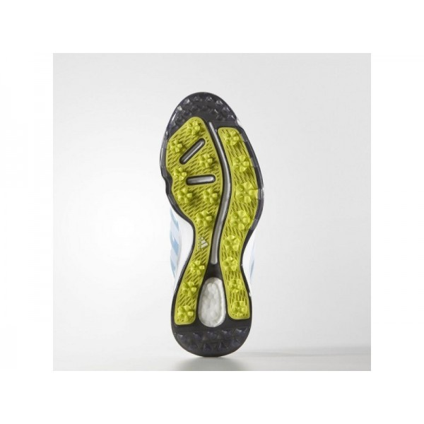 ADIPOWER BOOST 2.0 adidas Damen Golf Schuhe - Weiß/Sft Bue/Snnig Lme