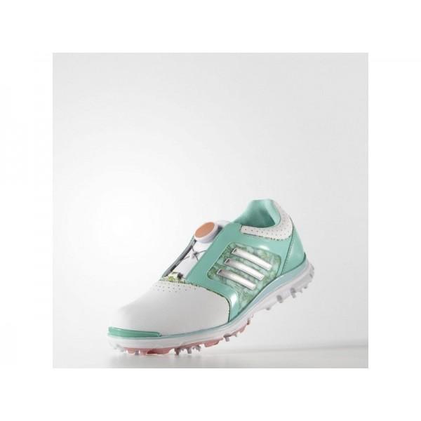 ADISTAR TOUR BOA adidas Damen Golf Schuhe - Breeze Weiß/Rdiant Aua/Sand