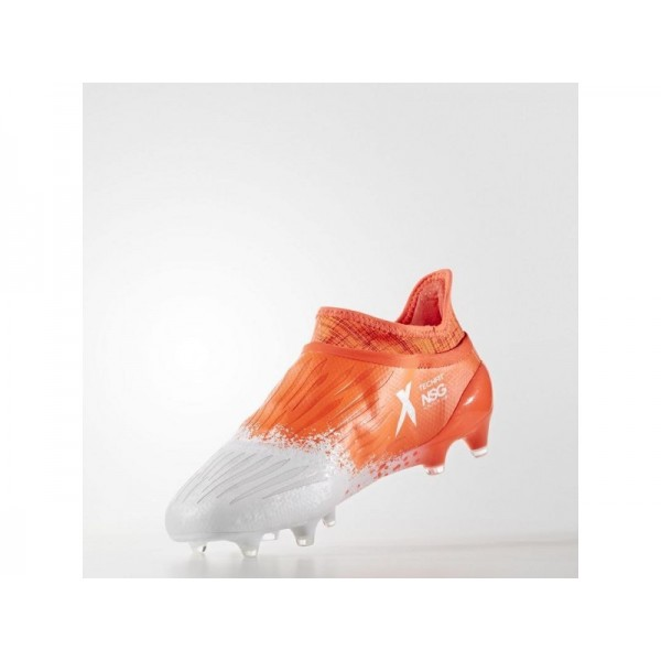 X 16+ PURECHAOS FG FUSSBALLSCHUH adidas Damen Fußball Schuhe - Ftwr Weiß/Fwr Wiß/Solar-Rot